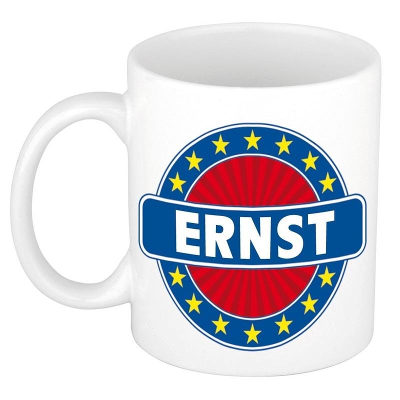 Kado mok voor Ernst