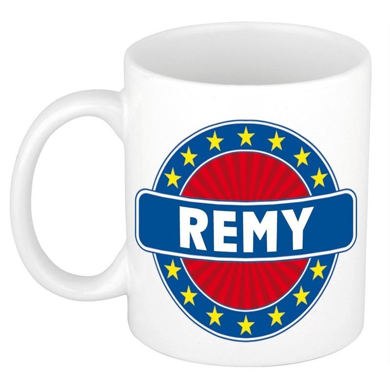 Kado mok voor Remy