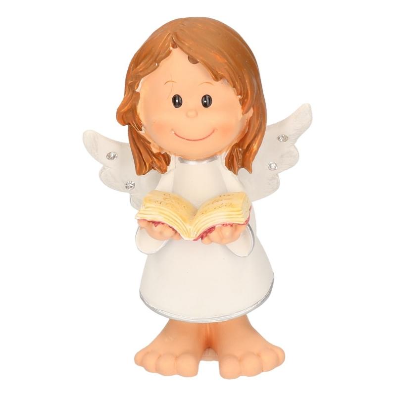 Kerst decoratie engel met boek