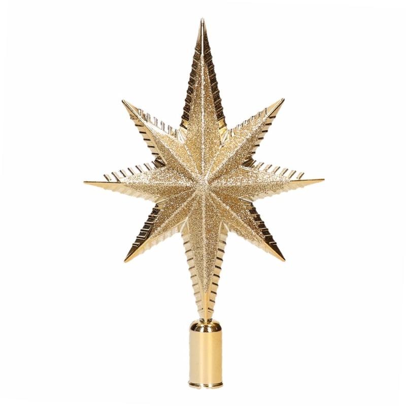 Kerst piek goud 19 cm