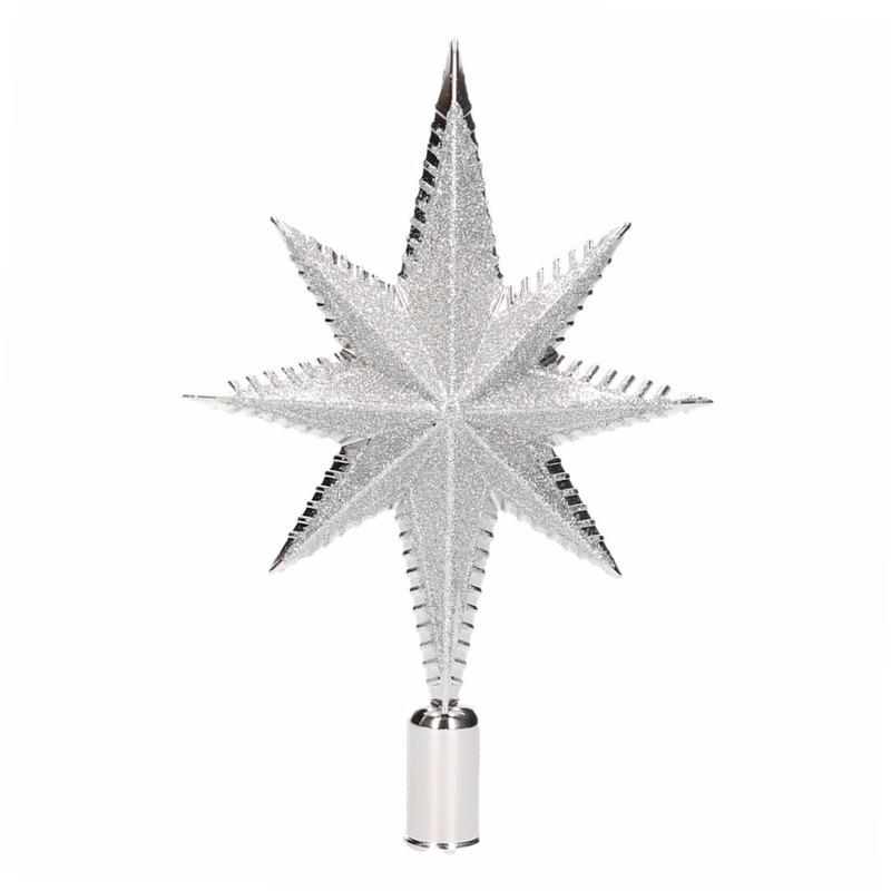 Kerst piek zilver 19 cm