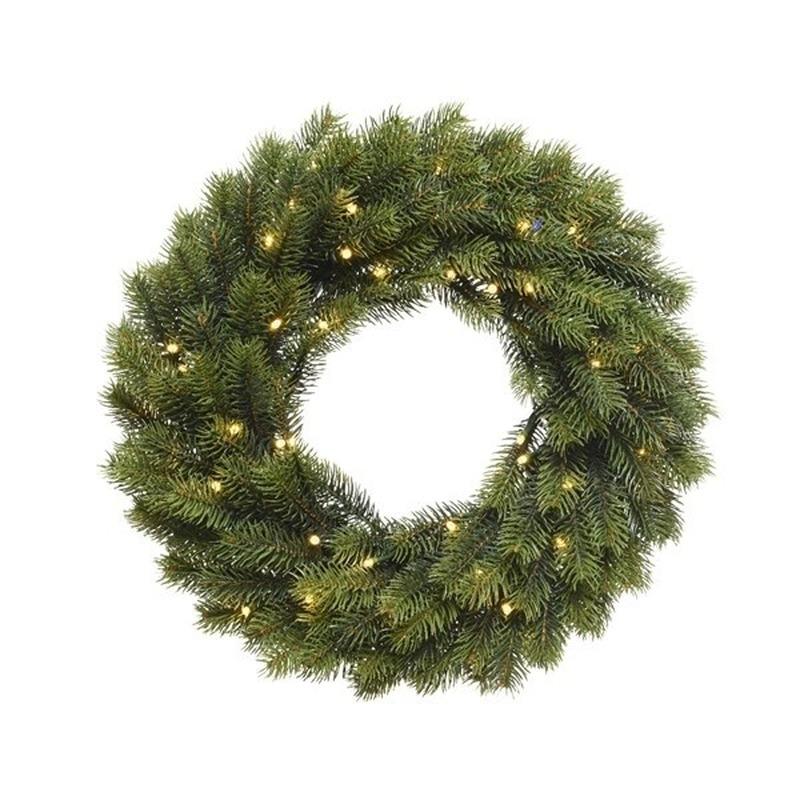 Kerstkrans met lichtjes 40 cm