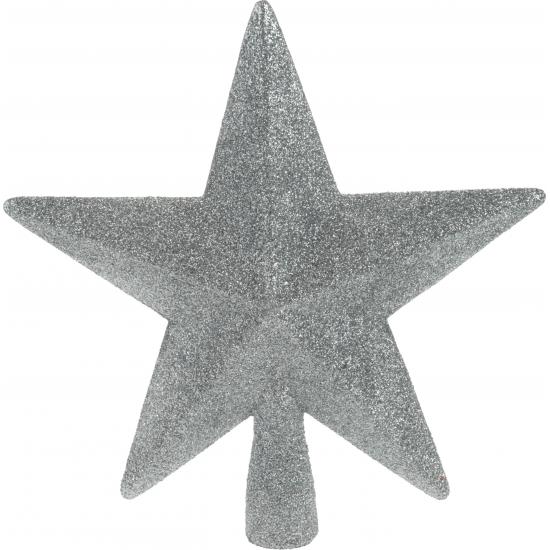 Kerstversiering zilveren piek