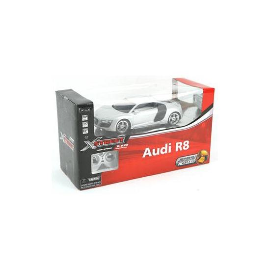 Kinderspeelgoed zilveren sportwagen Audi R8