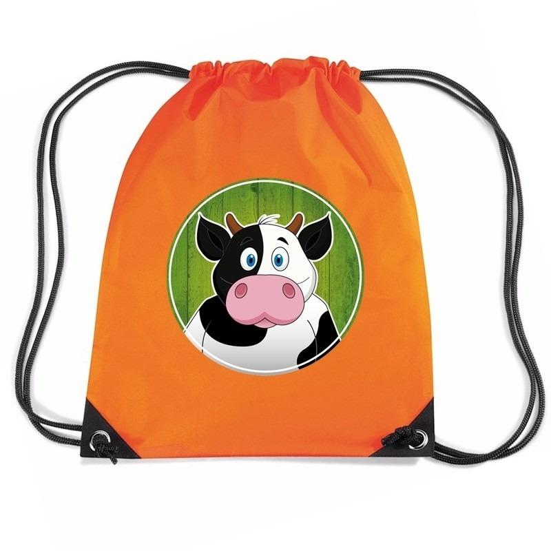 Koeien rugtas / gymtas oranje voor kinderen
