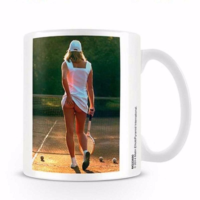 Koffiebeker tennis meisje