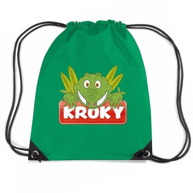 Kroky de Krokodil rugtas / gymtas groen voor kinderen
