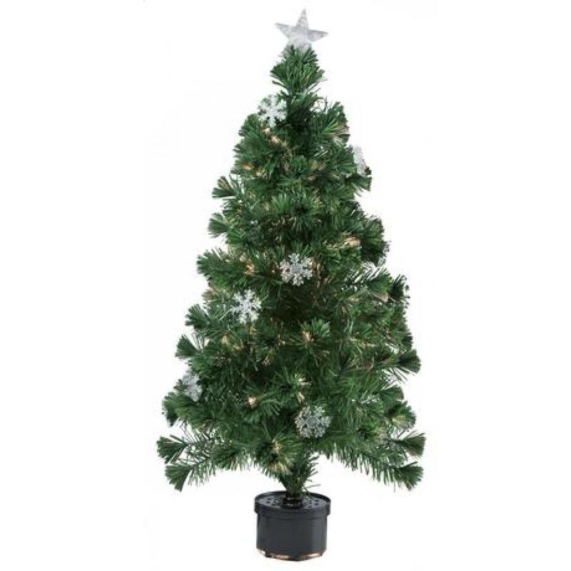 Kunst kerstboom met fiber verlichting 60 cm