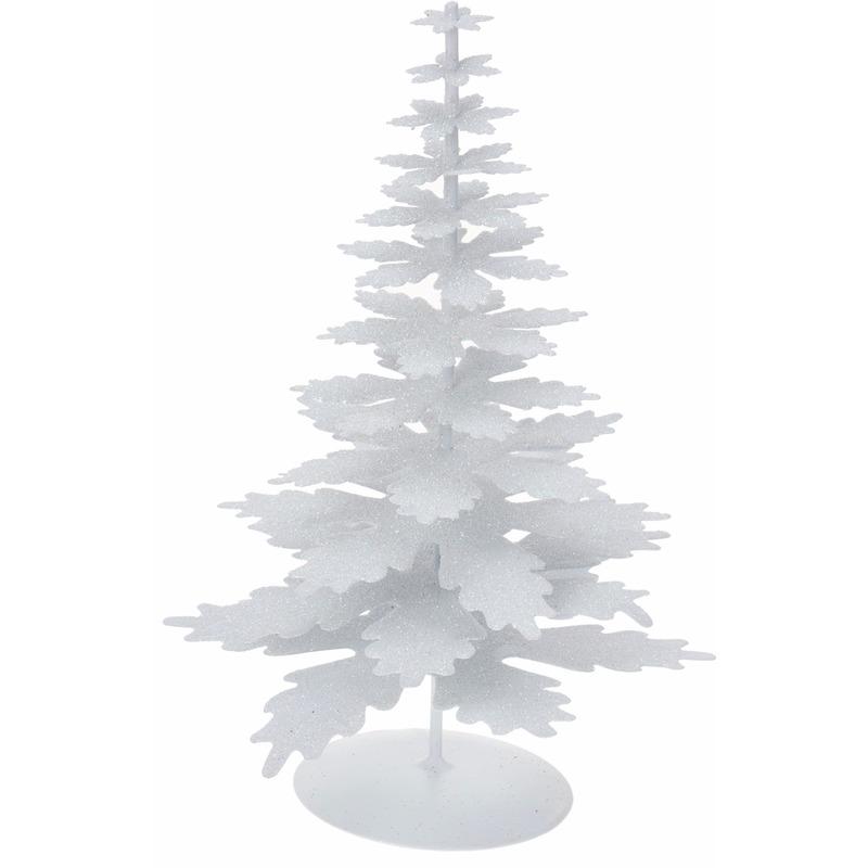 Kunstboom kerst wit glitter
