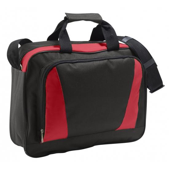 Laptop tas rood/zwart 40 cm