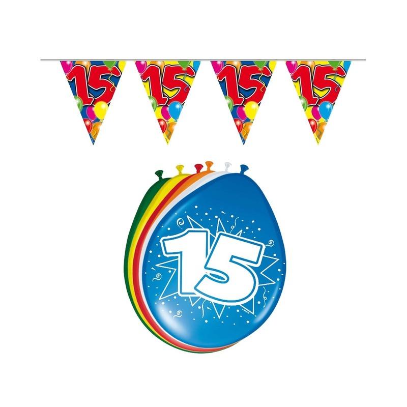 Leeftijd feestartikelen 15 jaar setje