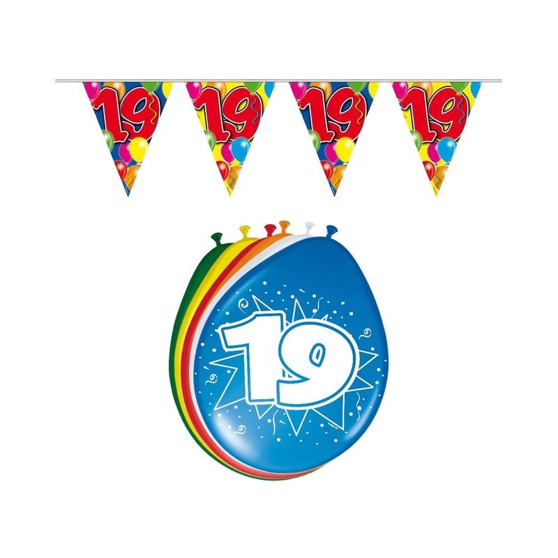 Leeftijd feestartikelen 19 jaar setje