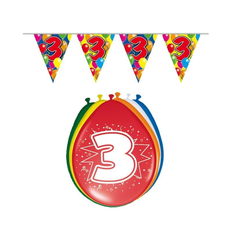 Leeftijd feestartikelen 3 jaar setje