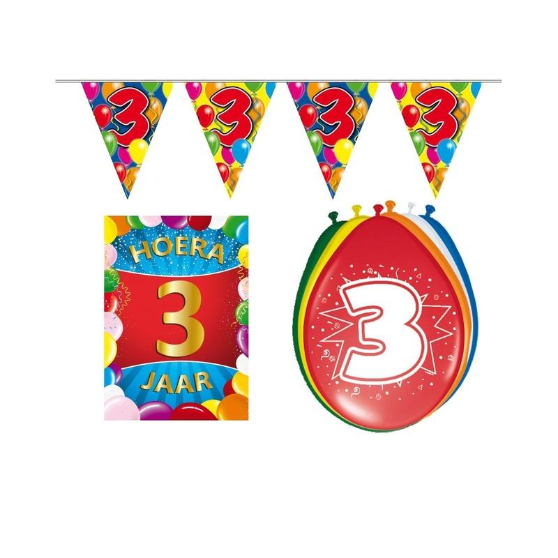 Leeftijd feestartikelen 3 jaar voordeel pakket