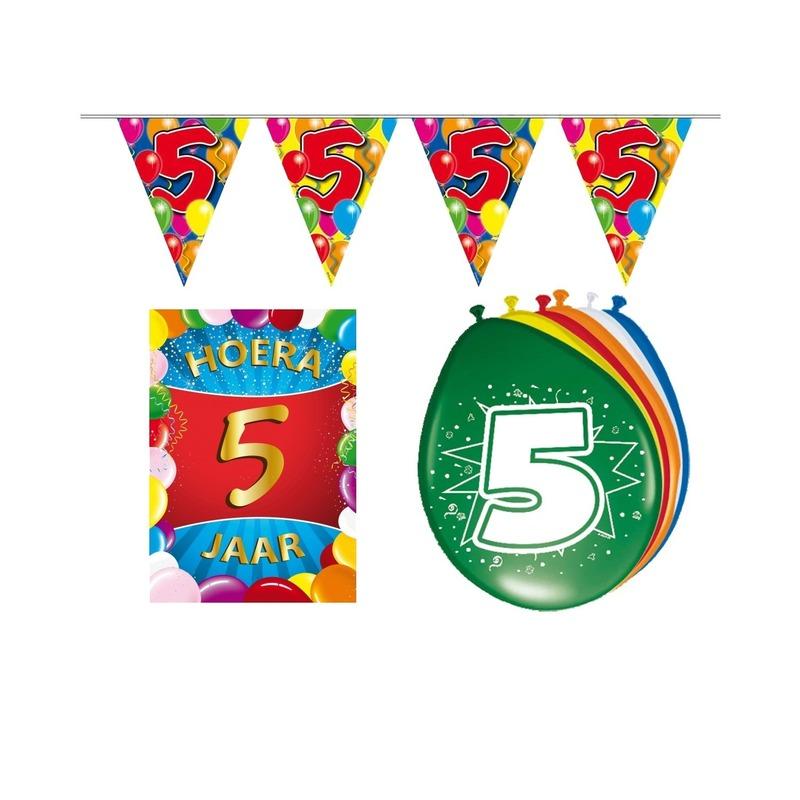Leeftijd feestartikelen 5 jaar voordeel pakket