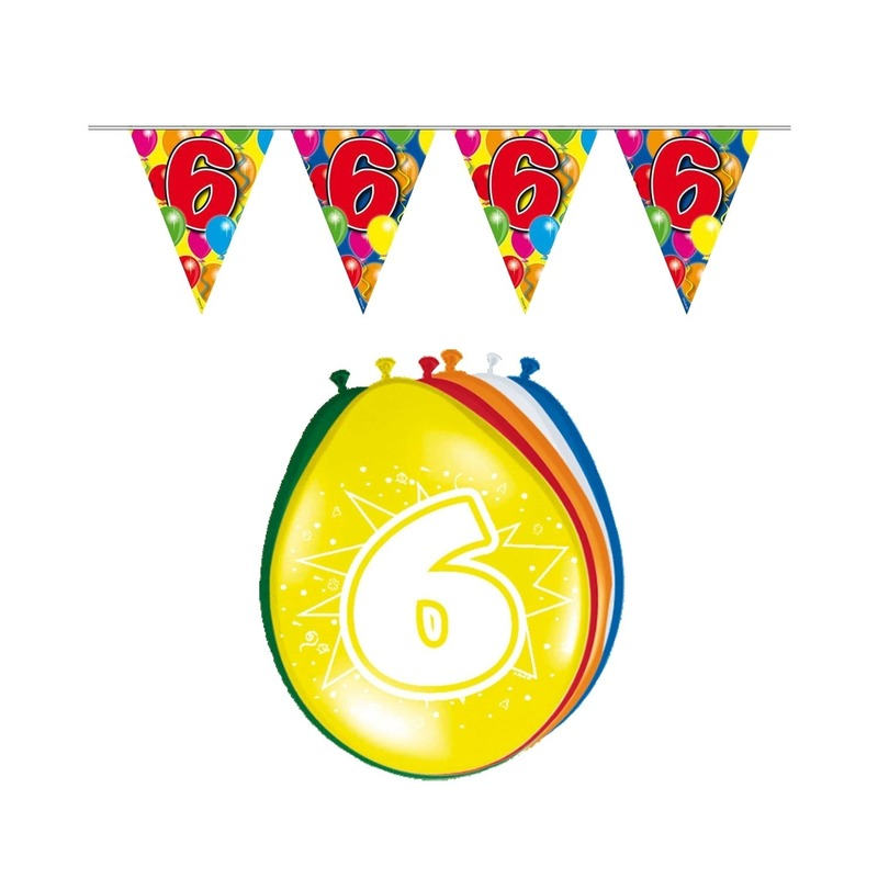 Leeftijd feestartikelen 6 jaar setje