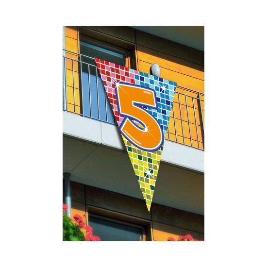 Leeftijd vlag 5 jaar 90 x 150 cm
