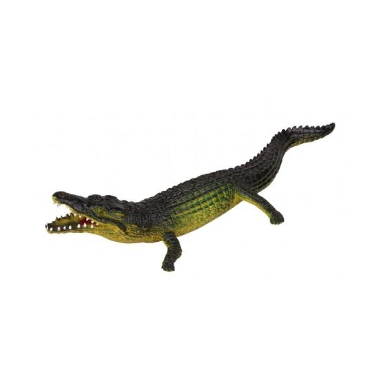 Levensechte rubber speelfiguren krokodil 30 cm