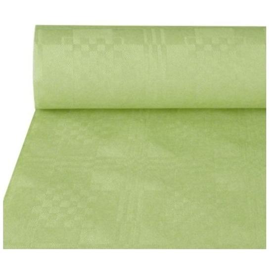 Lichtgroen papieren tafellaken/tafelkleed 800 x 118 cm op rol