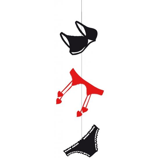 Lingeriewinkel etalage slinger lingerie