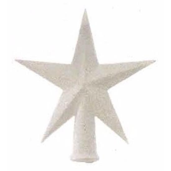 Mini kerstboom piek wit glitter