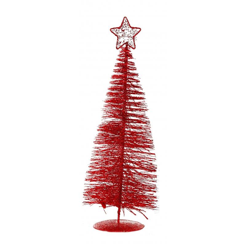 Mini rode kerstboom 21 cm
