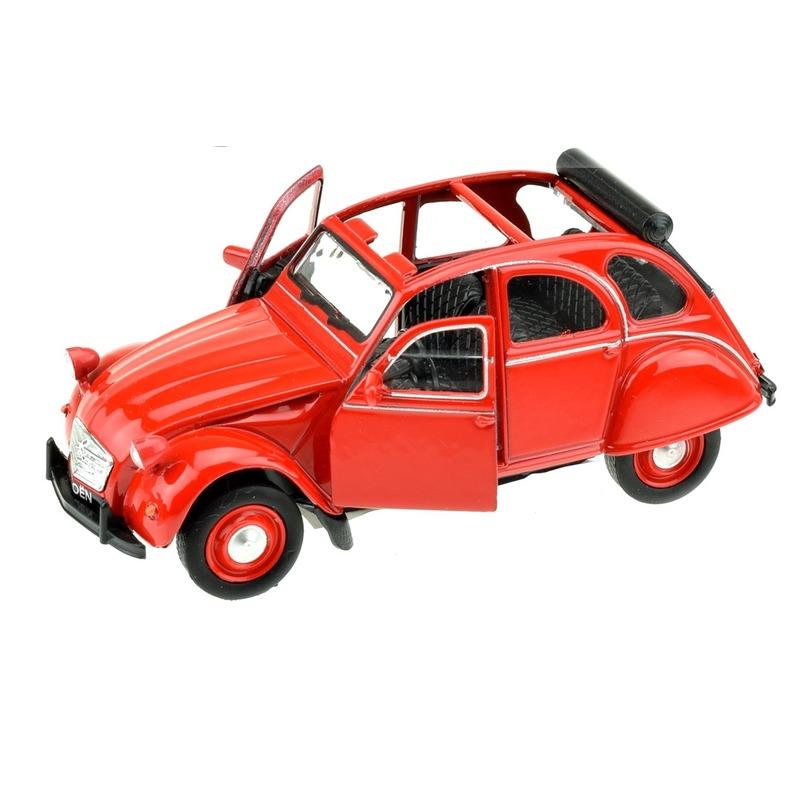Modelauto Citro?n 2CV rood 1:36