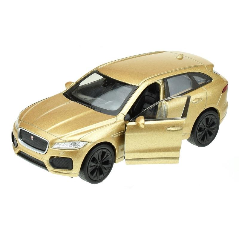 Modelauto Jaguar F-pace goudkleurig 1:34