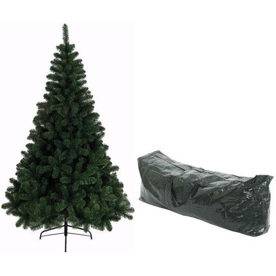 Namaak kerstboom 210 cm Imperial Pine groen met opbergtas