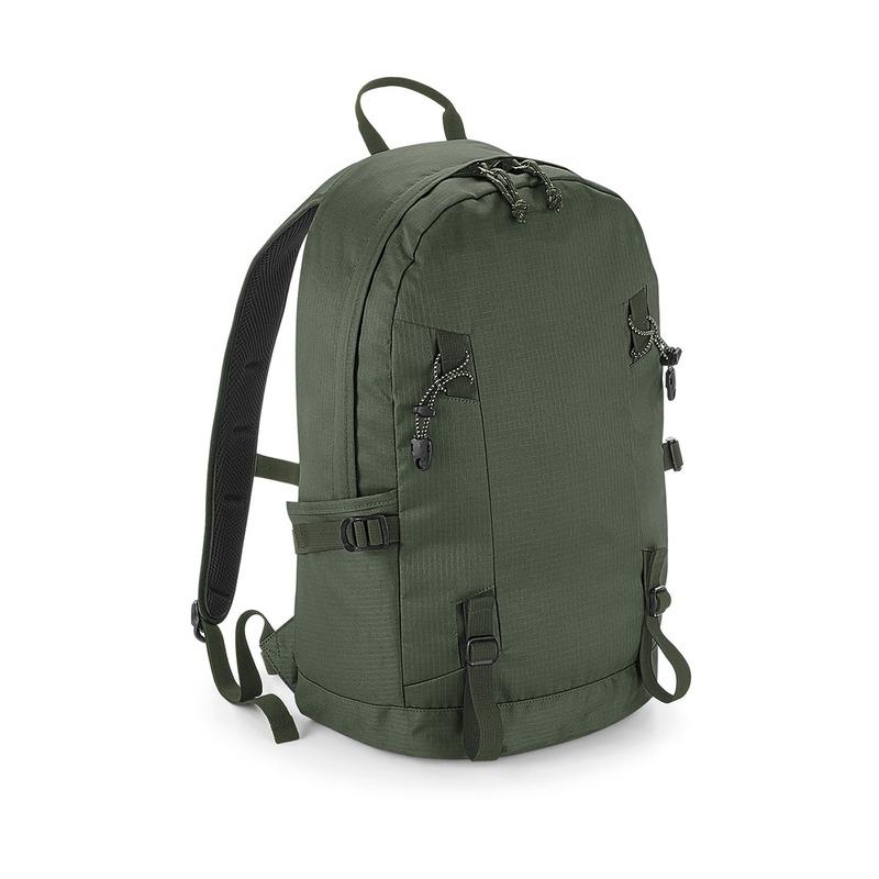 Olijf groene rugzak/rugtas voor wandelaars/backpackers 20 liter