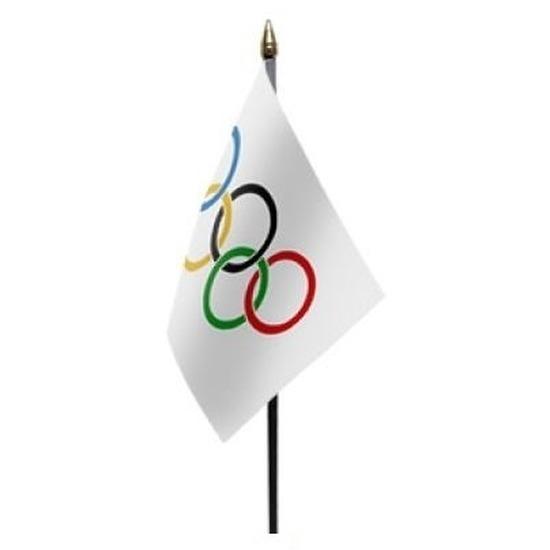 Olympische spelen vlag op stokje