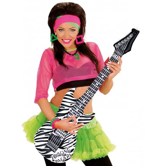 Opblaasbare gitaar zebra 105 cm