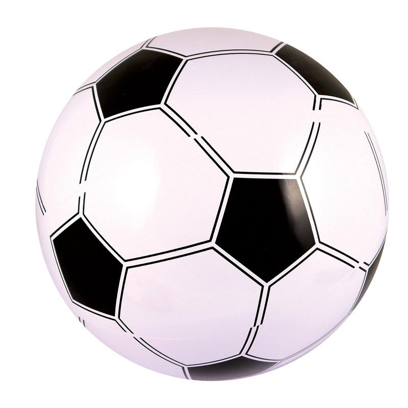 Opblaasbare strandbal/voetbal 41 cm