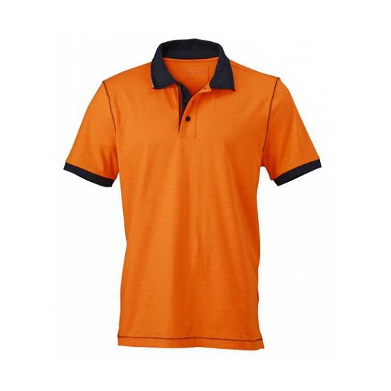 Oranje dames polo met comfortabele pasvorm