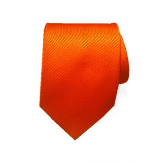 Oranje dassen van 100% polyester