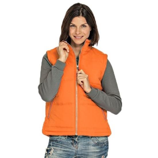 Oranje sport bodywarmers windproof voor dames