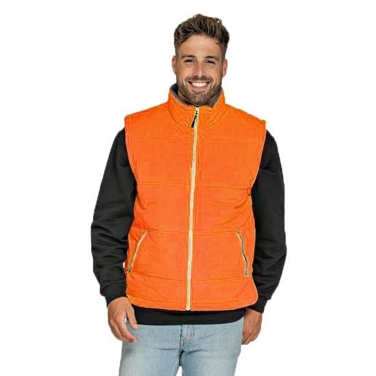 Oranje sport bodywarmers windproof voor heren