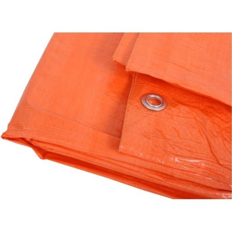 Oranje zeildoek 6 x 8 meter