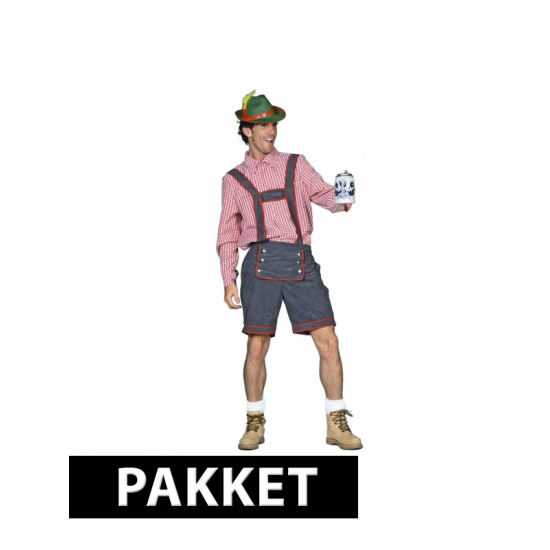 Pakket met Tiroler kleding voor heren maat M