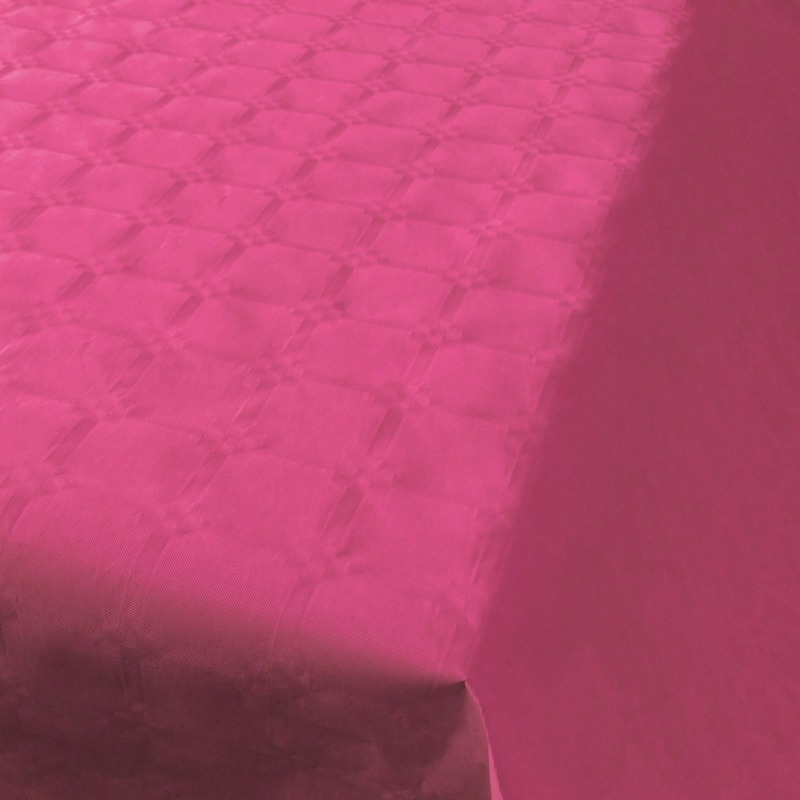 Papieren tafelkleed donker roze