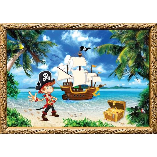 Piratenschip kapitein poster