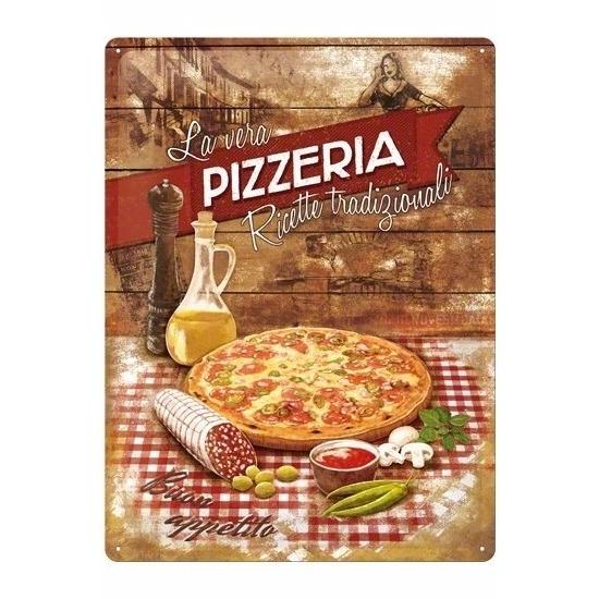 Pizza decoratie bord 30 x 40 cm