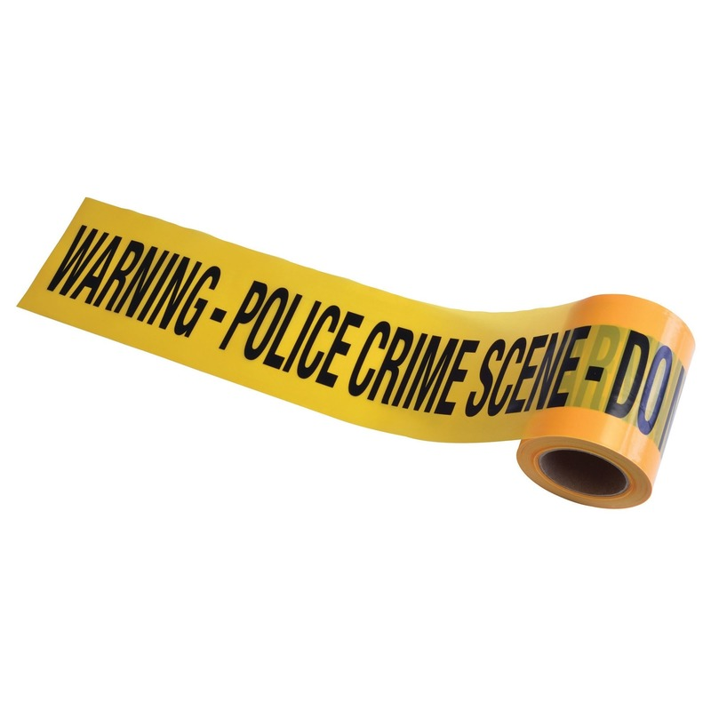 Plastic markeerlint Crime Scene Do Not Cross 60 meter