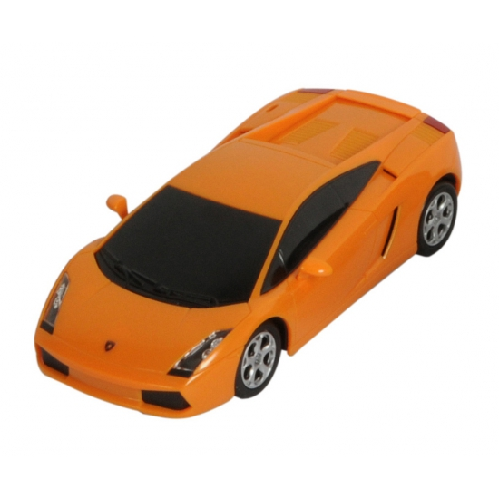 Plastic orange Lamborghini schaalmodel