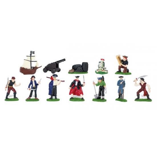 Plastic poppetjes van piraten