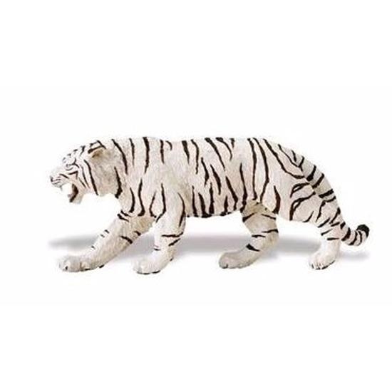 Plastic witte tijger 15 cm