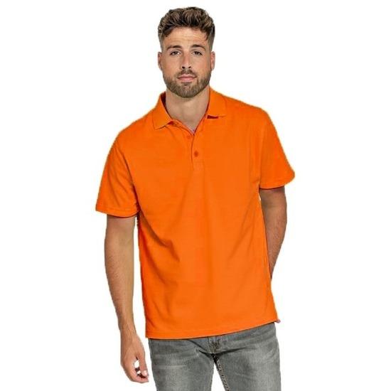 Polo shirts oranje werkkleding voor heren