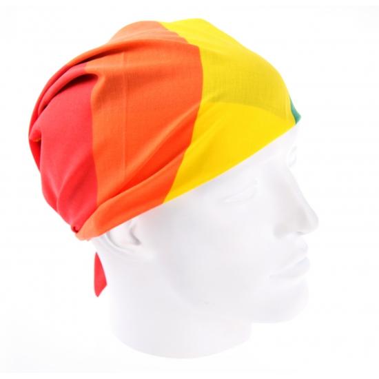 Regenboog hoofddoek 54 x 54 cm