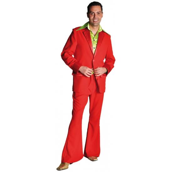 Rode disco kleding voor heren