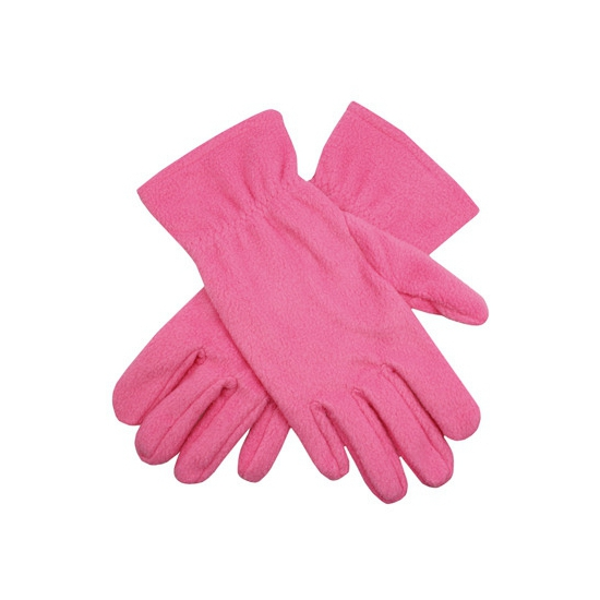 Roze dames fleece handschoenen